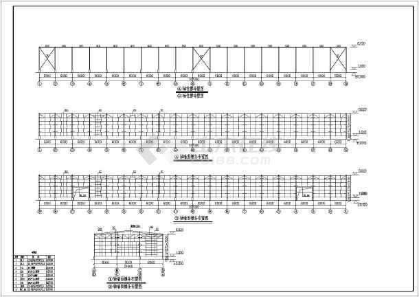 某地单层轻钢结构厂房钢构部分结构施工图