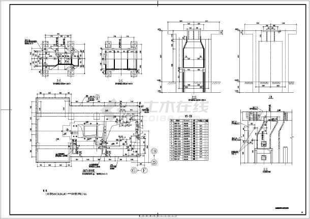 汽车维修装配车间基础结构施工图