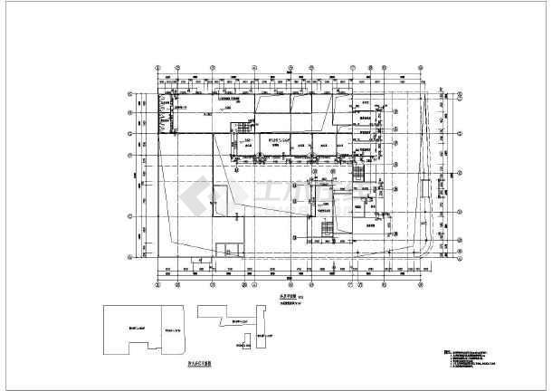 太原市两层轻钢结构保时捷4s展厅建筑施工图