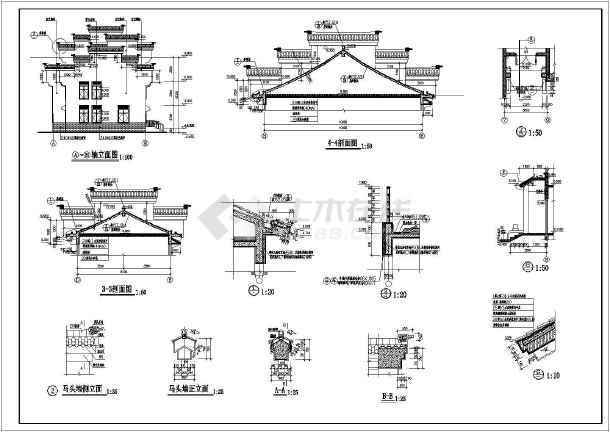 某异形柱框架结构别墅施工图(含建筑设计)-图2