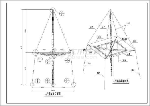 型结构_某地区景观伞型膜结构设计施工图纸
