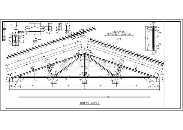 砖混结构上的三角形屋架钢结构设计图图片