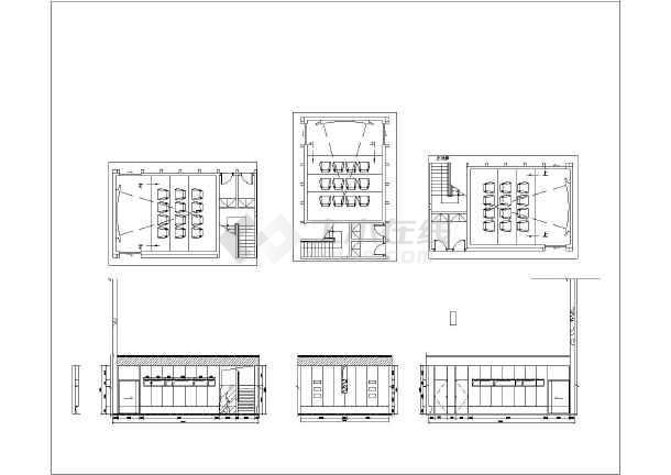 重庆一层框架结构售楼处室内装修施工图