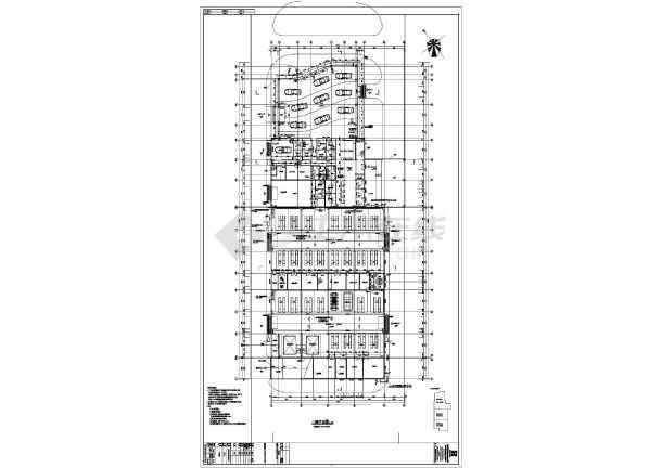 某地2层钢结构别克4s店建筑专业施工图设计