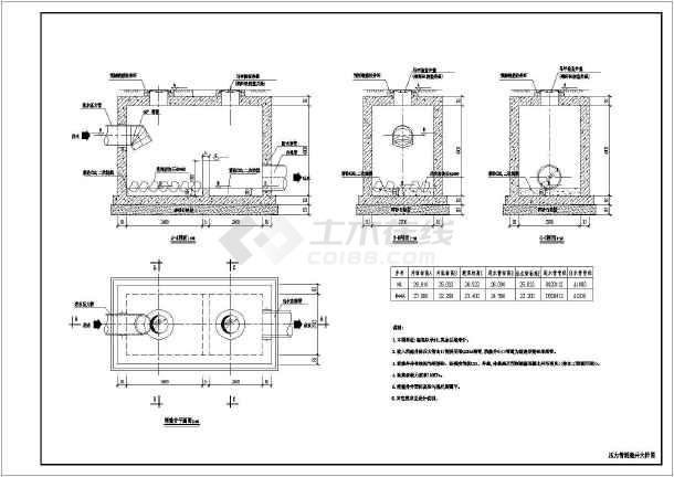 相关专题:排水管安装图 污水泵站剖面图 电梯井剖面图 空调排水管