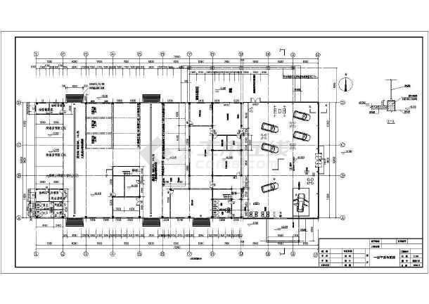 东营市某二层三菱汽车4s店建筑设计施工图
