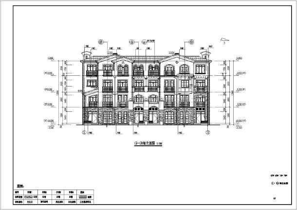 该图纸为青岛某小区四层住宅楼建筑设计施工图,图纸内容包含:各层平面