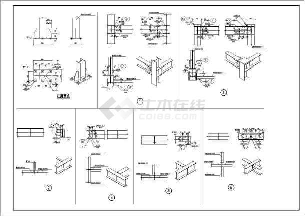 某地教学楼钢楼梯结构设计施工图纸