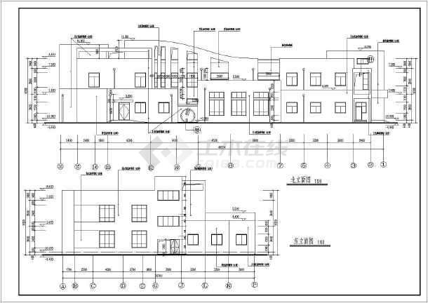 图纸 建筑图纸 教育建筑 幼儿园设计 某地3层农村幼儿园全套建筑施工
