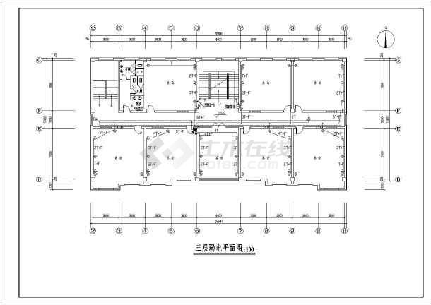 某地四层别墅办公楼框架设计施工图纸150电气方大全图纸图片