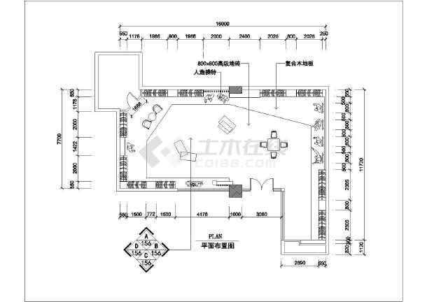 某地一套服装店的装修CAD制造图纸_cad图纸设计图纸模具底梁3d图片