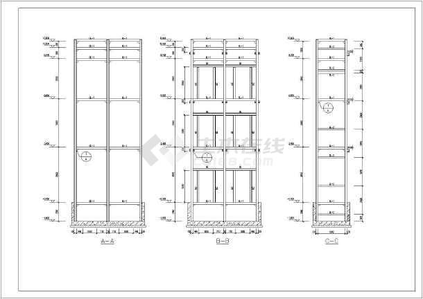 某项目钢结构观光电梯全套结构施工图