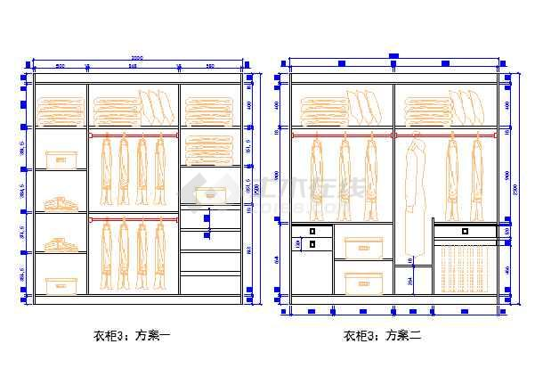 衣柜设计图纸