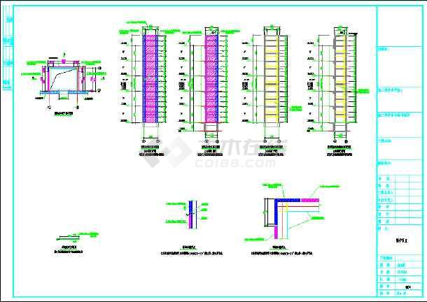 【深圳】某大型公司加建电梯钢结构图纸