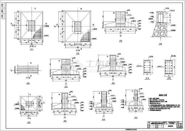 某24米+12米跨图纸石材门式刚架车间施工图_英文下发结构图片