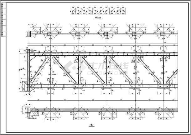 山西钢结构输煤走廊钢桁架建筑结构施工图