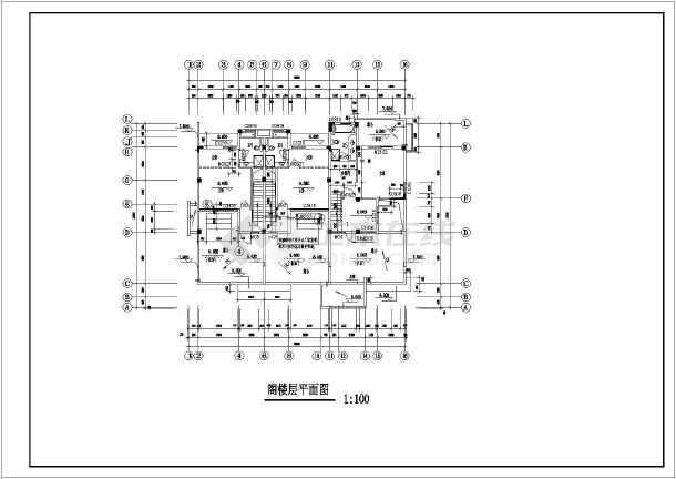 某地两层框架结构平屋顶别墅建筑设计方案图