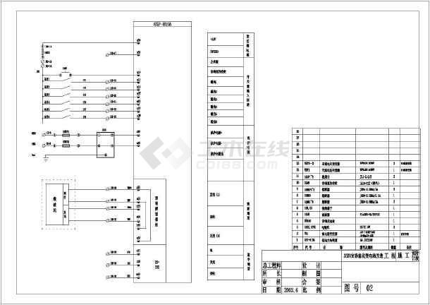 35kv变电所主接线图_一套35KV变电站二次图电气设计_cad图纸下载-土木在线