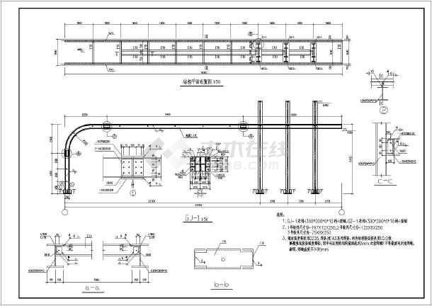 某钢结构小区入口大门全套设计施工图