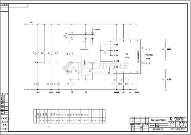 电动机控制原理图,损纸碎浆控制柜系统图,双磨盘软启动柜原理接线图