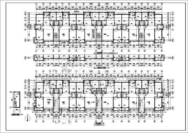 图纸内容包括:建筑设计说明,建筑各层平面图,屋顶平面图,立面图,剖面