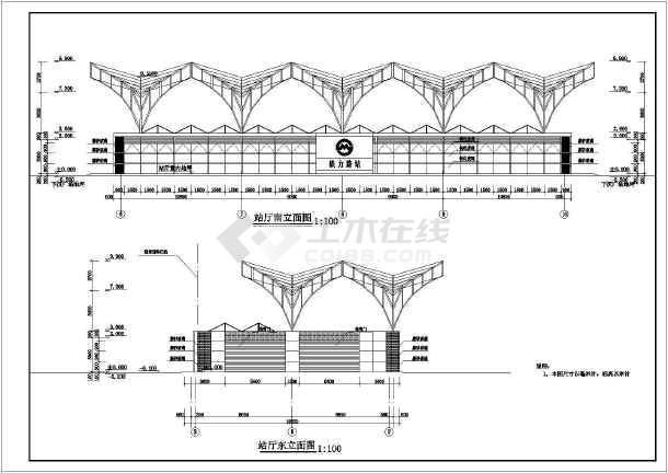 上海常用一层框架地铁地面站建筑设计施工结构天正cad快捷键图纸图片