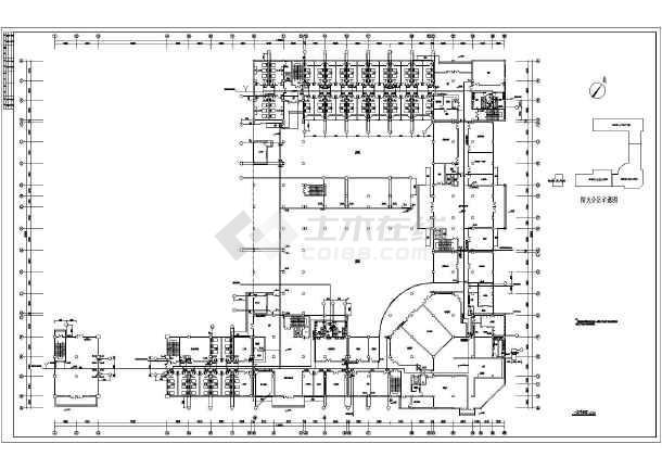 某地五层福利院建筑给排水设计施工图