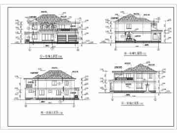 某农村二层砖混结构别墅建筑设计施工图
