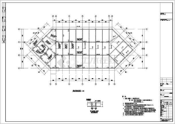 东北某地二层框架结构施工全套图纸