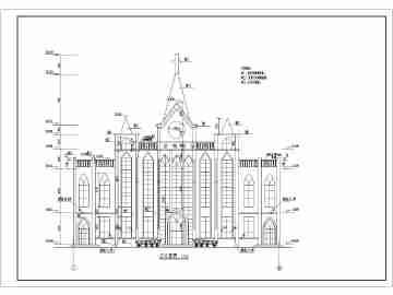 某地区二层欧式教堂建筑设计施工图