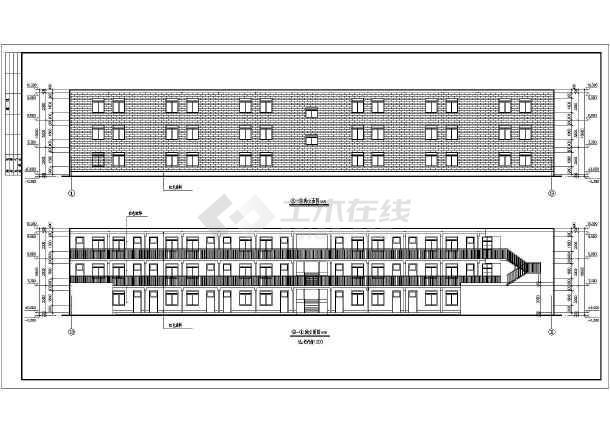 一个18班小学教学楼建筑方案设计图