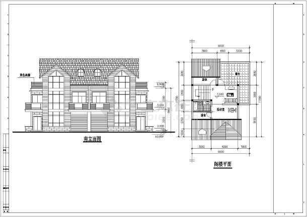 五种经典别墅建筑户型设计方案图纸