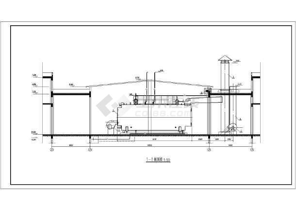 某120吨燃气锅炉房施工设计详细图图片
