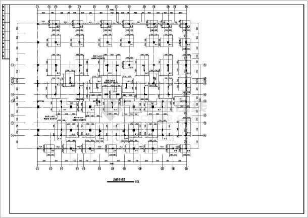 七层两层地下室一梯四户结构施工图