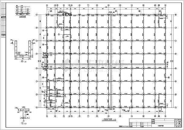 图纸 建筑结构图  厂房结构设计  框架结构厂房  两层钢筋混凝土框架
