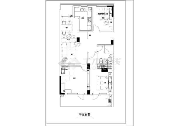 120平方三室一厅装修设计图