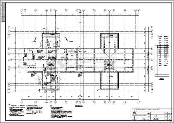 包括:结构施工图设计总说明,外檐详图,楼梯详图,基础平面布置图,桩位