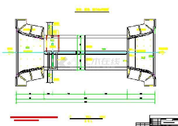 【湖南】某穿堤水闸设计图(共4张)