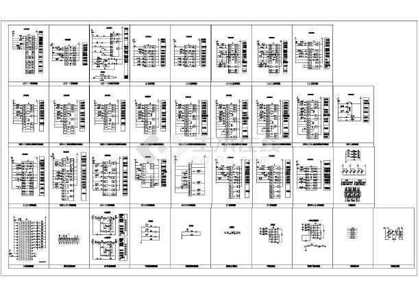 非常详细的CADv标准标准常用电气CAD图块设猪的十字绣图纸图片