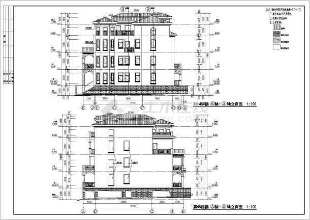 某地地中海图纸联排别墅风格建筑图纸夏华tda9373全套图片