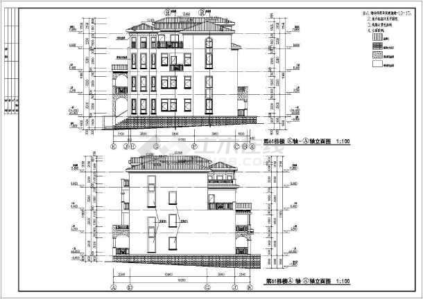 某地地中海全套联排别墅楼层建筑图纸平面图图纸风格图片