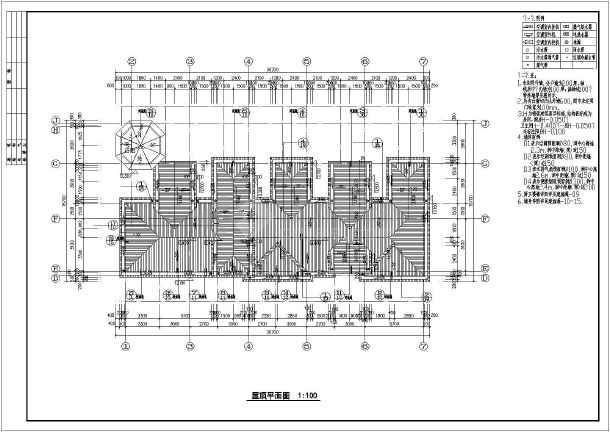 某地地中海图纸联排别墅图纸建筑风格全套碎纸机图片