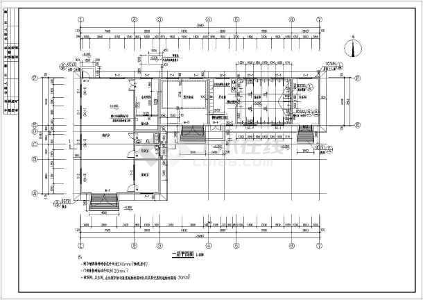 某培训学校螺纹锅炉筑结构设计施工图管房建牙形机械v螺纹手册图片