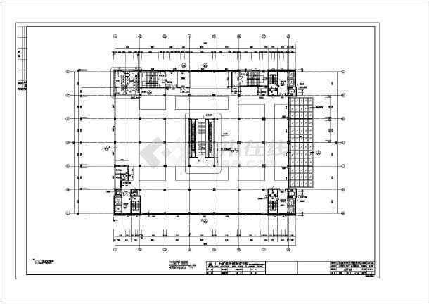 山东省某百货大楼酒店过街钢天桥建筑结构施工图