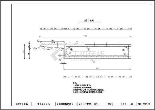 合肥工业大学三跨连续梁桥毕业设计图纸图纸隧道施工讲解图片