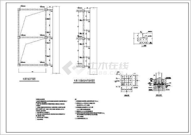 某地钢结构电梯井结构设计施工图纸(cad图纸下载)