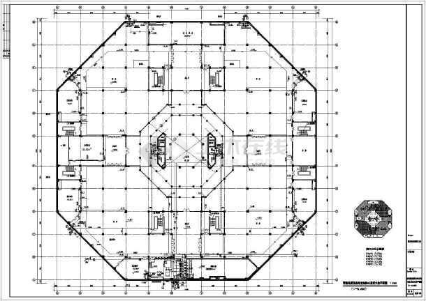 某寺庙九层框架结构佛宫寺给排水消防设计图