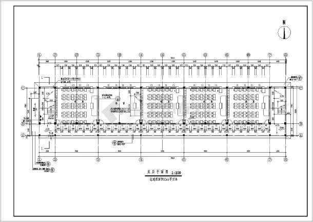 某地两层框架结构小学教学楼建筑设计施工图纸