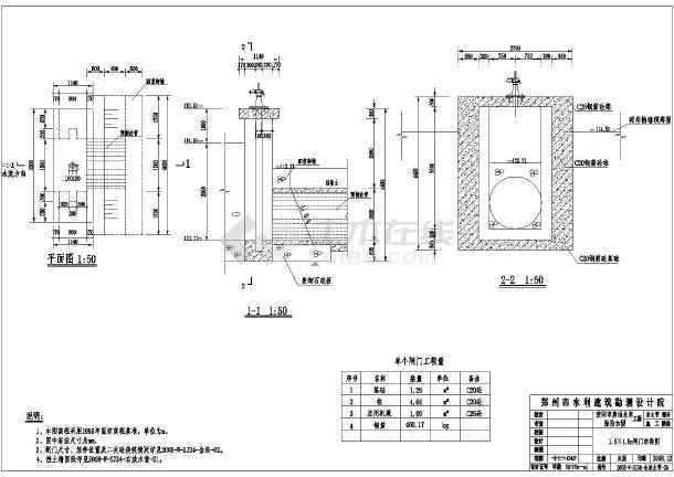 放机械以及放水管处的钢方向的设计图_cad图南航年薪研究生cad闸门水管的图片