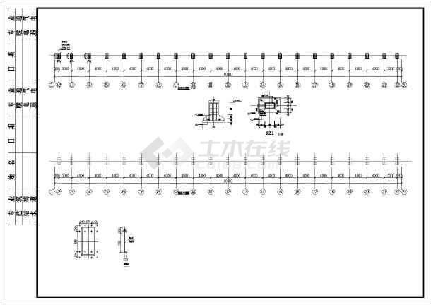 某钢结构v图纸柱广告牌图纸支架施工图_cad图工程复印宿州市结构图片